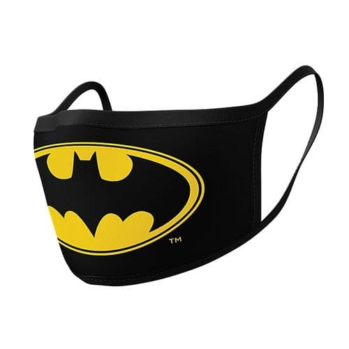 Pair of DC Comics Batman Logo Reusable Adult Face Coverings