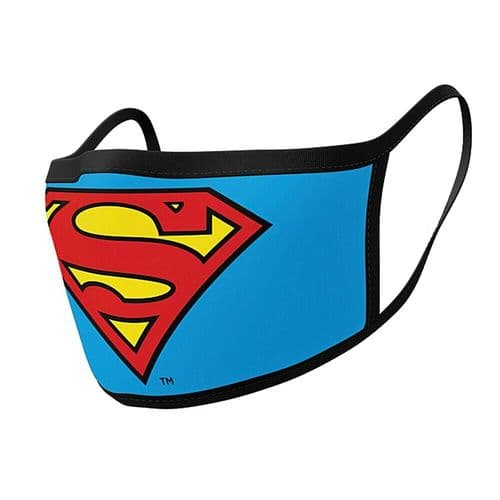 Pair of DC Comics Superman Logo Reusable Adult Face Coverings
