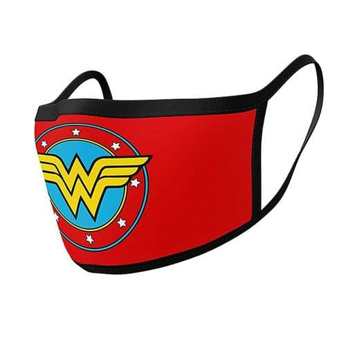 Pair of DC Wonder Woman Logo Reusable Adult Face Coverings