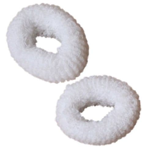 Pair of Large Soft Hair Donuts Bobbles