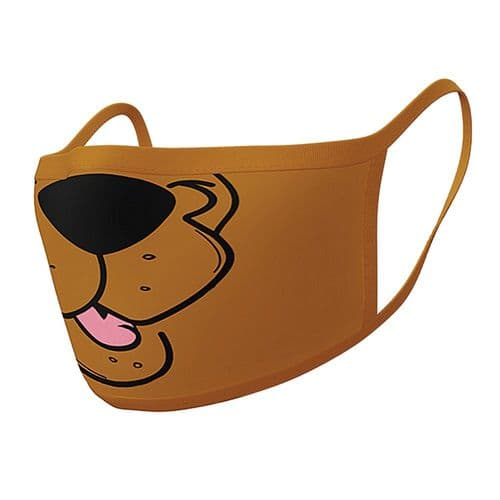 Pair of Scooby Doo Mouth Reusable Adult Face Coverings