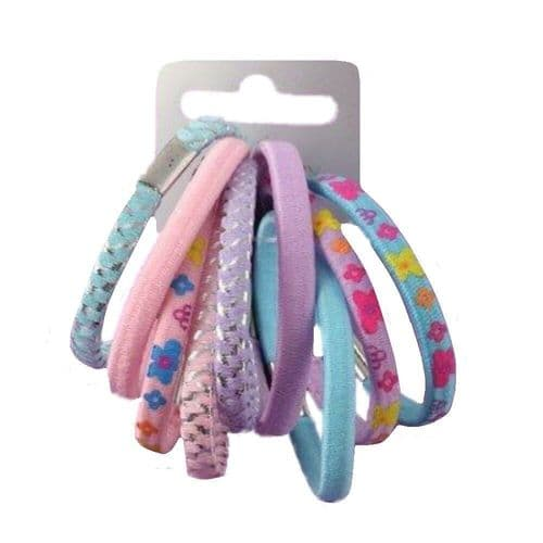Pastel Coloured Assorted Hair Elastics Bobbles