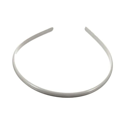 Plain White Plastic Alice Hair Band