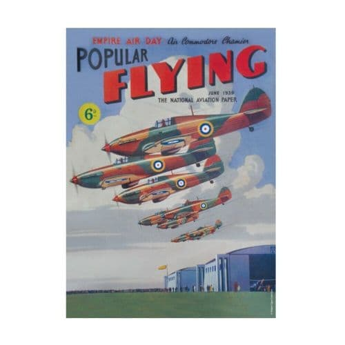 Popular Flying Wartime Britain and Heritage Tin Sign A5 Wall Plaque