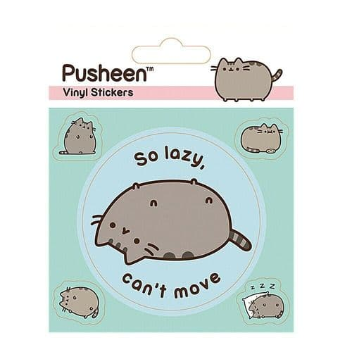 Pusheen So Lazy Vinyl Stickers Set Decals