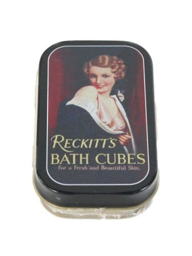 Reckitt's Bath Cubes Mini Timeless Tin Trinket Pill Box