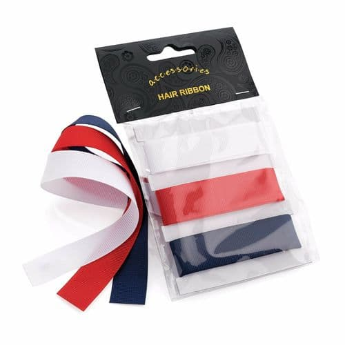 Set of 3 Long Spectator Ribbon Hair Ties Bobbles