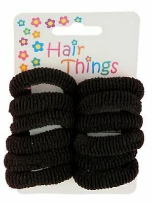 Small Black Hair Ponios Bobbles