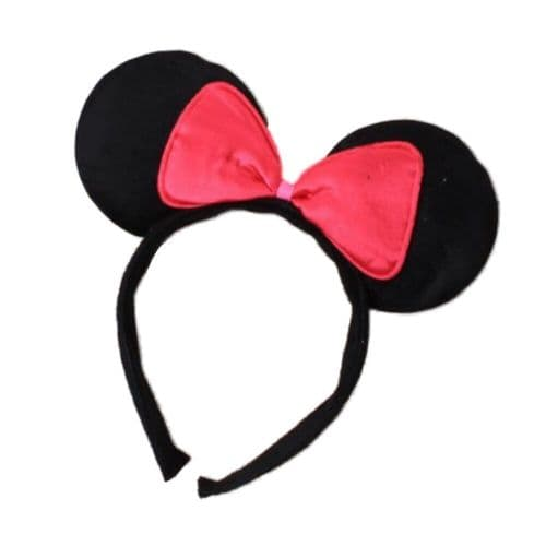 Soft Padded Minnie Mouse Ears Alice Hair Band