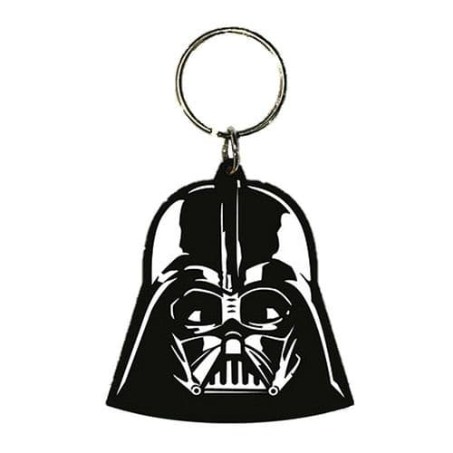 Star Wars Darth Vader Helmet Keyring Rubber Keychain Fob
