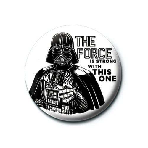 Star Wars Darth Vader The Force Is Strong Button Badge