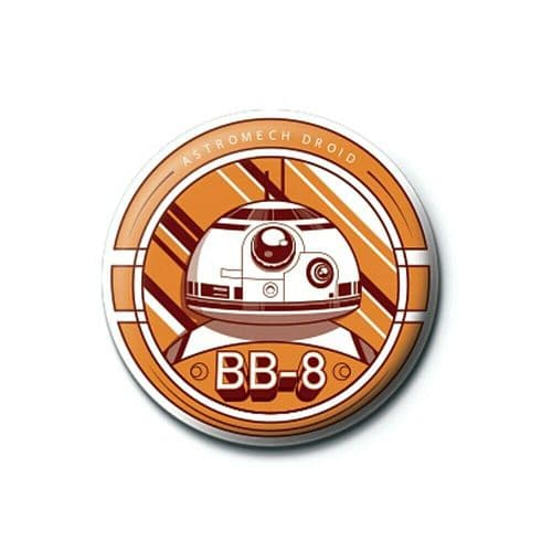 Star Wars Episode VII BB-8 Droid Button Badge