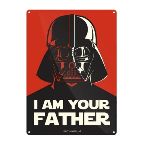Star Wars I Am Your Father Darth Vader Tin Sign A5 Wall Plaque
