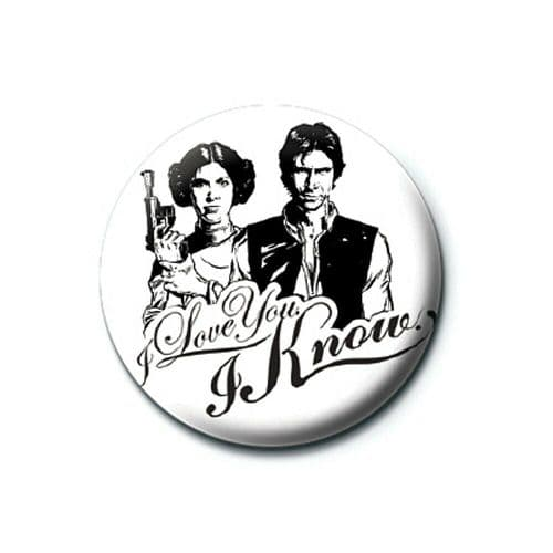 Star Wars I Love You Button Badge