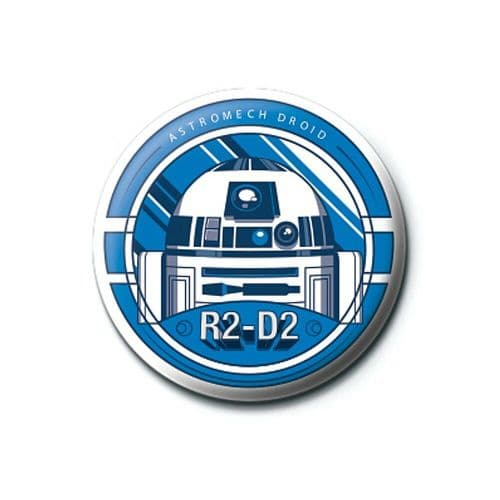 Star Wars R2-D2 Droid Button Badge
