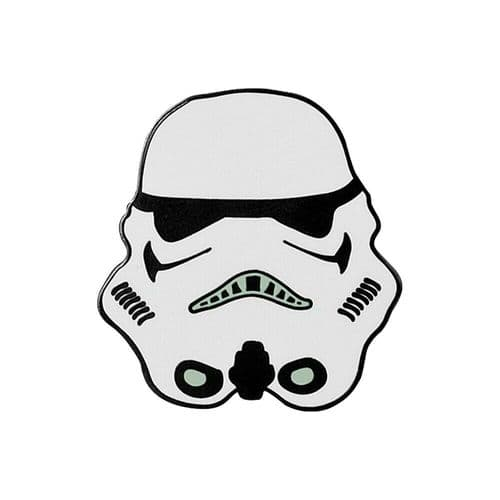 Star Wars Stormtrooper Helmet Metal Pin Badge