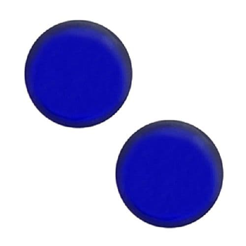 Studex Sensitive Blue Button Stainless Steel Stud Earrings