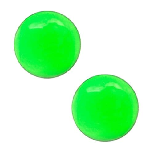 Studex Sensitive Green Button Stainless Steel Stud Earrings