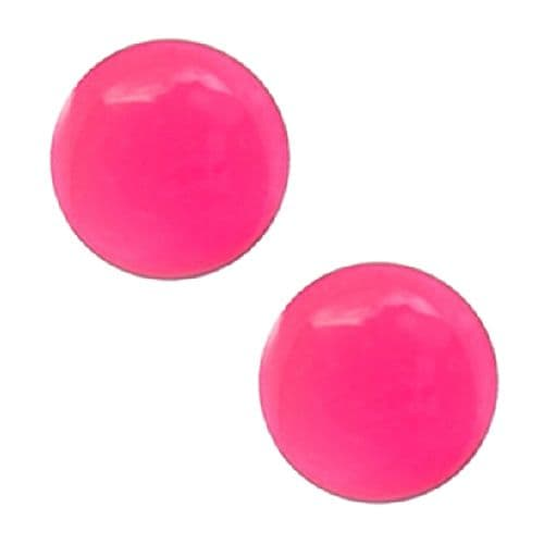 Studex Sensitive Hot Pink Button Stainless Steel Stud Earrings