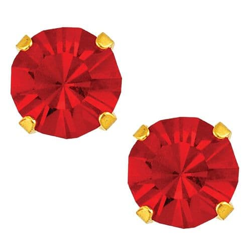 Studex Sensitive July Ruby Gold Plated Claw Set Earrings