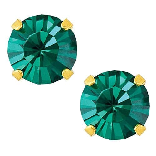 Studex Sensitive May Emerald Gold Plated Claw Set Earrings
