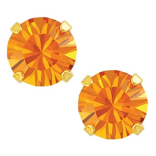 Studex Sensitive November Topaz Gold Plated Claw Set Earrings