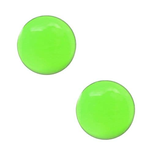 Studex Tiny Tips Neon Green Button Stainless Steel Stud Earrings