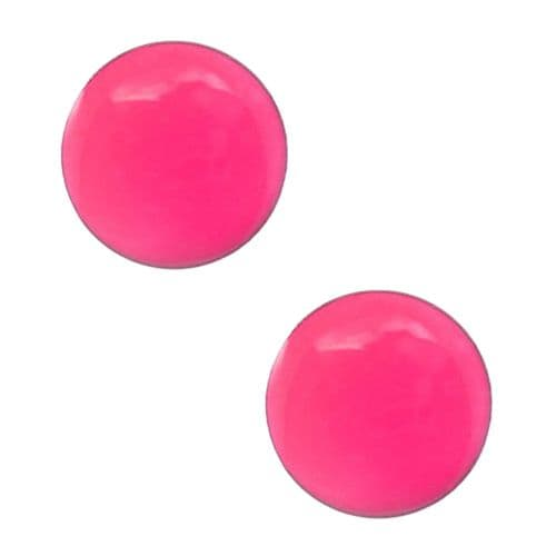 Studex Tiny Tips Neon Pink Button Stainless Steel Stud Earrings