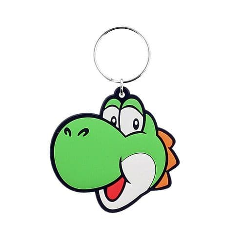 Super Mario Yoshi Character Keyring Rubber Keychain Fob