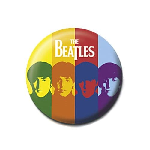 The Beatles Stripes Button Badge