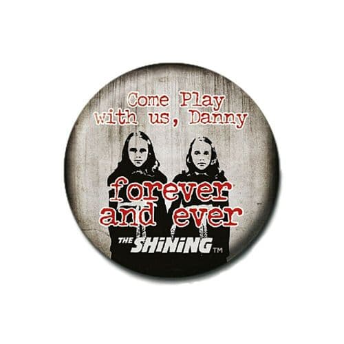 The Shining Come Play With Us Danny Button Badge Pin Badge Horror Film