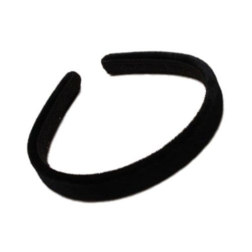 Velvet Feel Fabric Alice Hair Band 1.5cm - Black