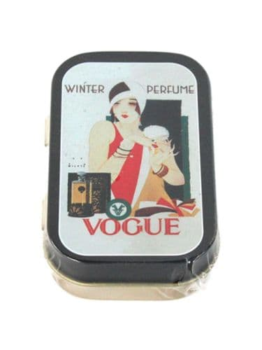Vogue Perfume Mini Timeless Tin Trinket Pill Box