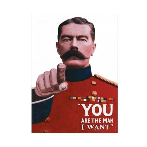 You Are The Man Wartime Britain Tin Sign A5 Wall Plaque