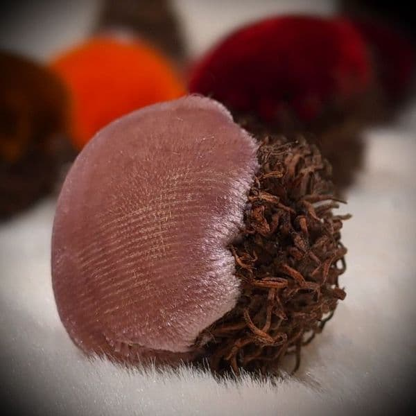 Rose Gold Bur Oak Velvet Acorns