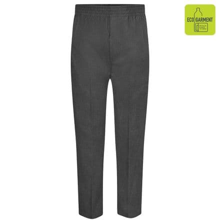 Grey Full Elastic Pull Up Trousers