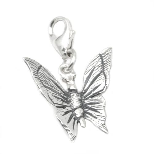 Butterfly Sterling Silver Clip On Charm