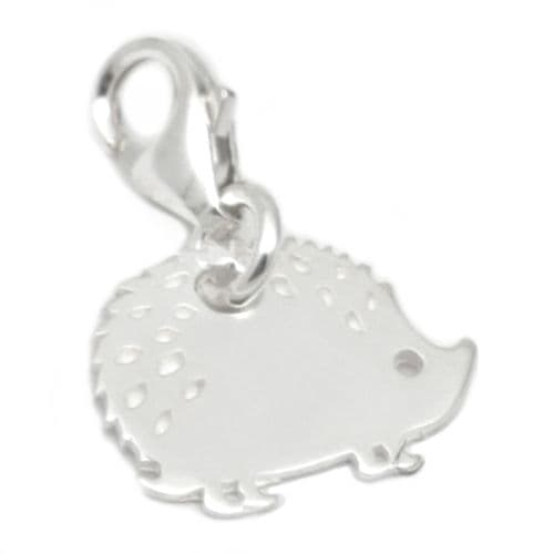 Hedgehog Sterling Silver  Clip On Charm