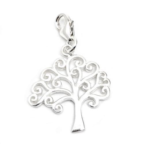 Tree Of Life / Family Tree Sterling Silver Clip On Charm