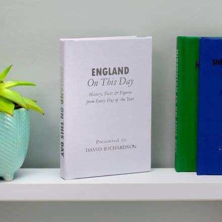 Personalised England International Football On This Day Book