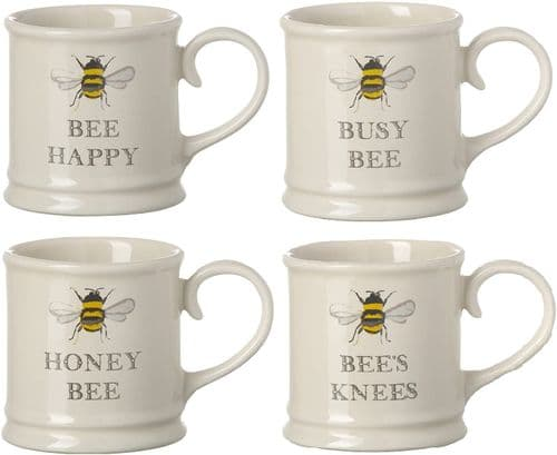 BEE Espresso Mugs, Set of 4