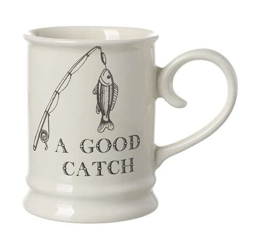 Majestic 'A GOOD CATCH' Fishing Theme Mug