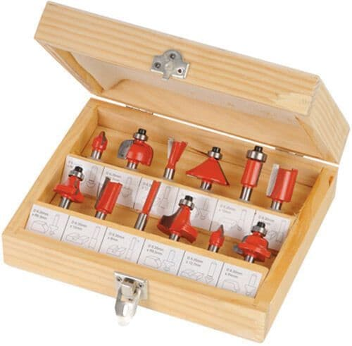 12pc 1/2 Router Bit Set Tct Router Cutter Shank Tungsten Carbide Tipped In Case