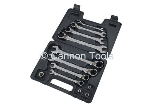 12pc Combination Spanner Spanners Set With Reversible Ratchet Ring