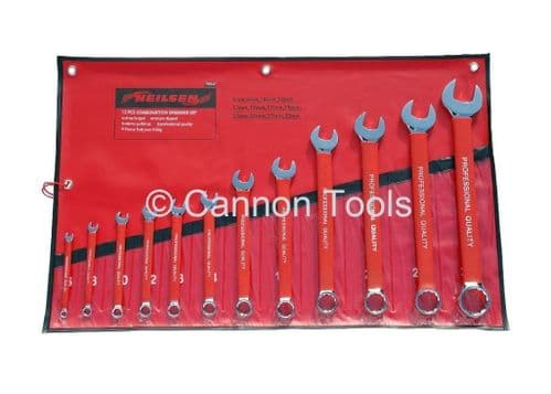 12pc Professional Combination Pvc Gripped Spanners Tool Set