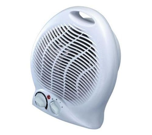 2000W Portable Floor Silent Electric Fan Heater Hot & Cold Upright