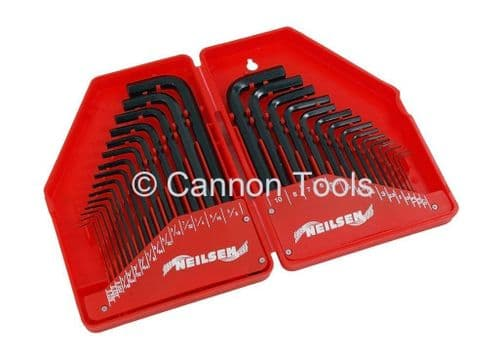 30pc Hex Allen Key Set - Metric and Imperial