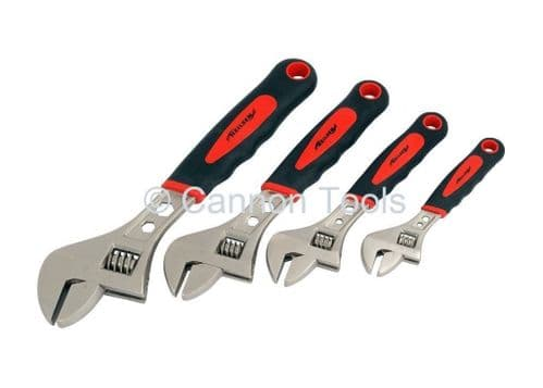 """4 Piece Adjustable Spanner Wrench Set Quality Product 6 8 10 & 12"""""""