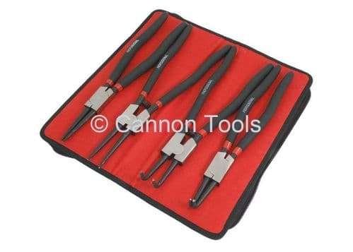 """4Pc 13"""" Circlip Plier Set Snap Ring Double Dipped Handle Steel Quality"""
