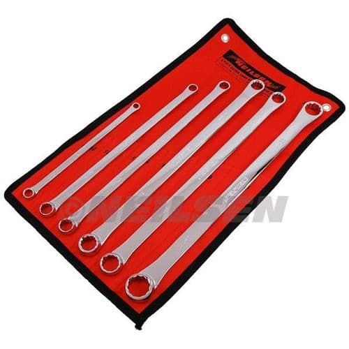6pc Extra Long Ring Spanner Set